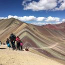 trekking in rainbow mountain peru