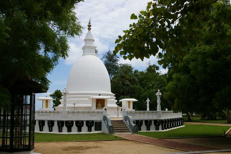 Jaffna white temple