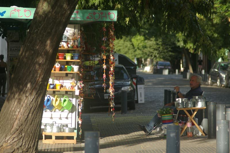 buenos aires local shop keeper on street