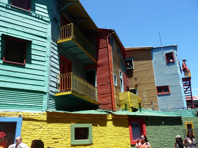 buenos aires colourful houses