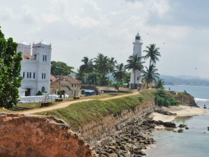 Galle fort and promenade in Sri Lanka
