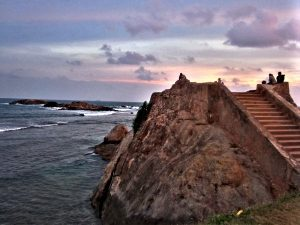 Rugged coast near Galle in Sri Lanka