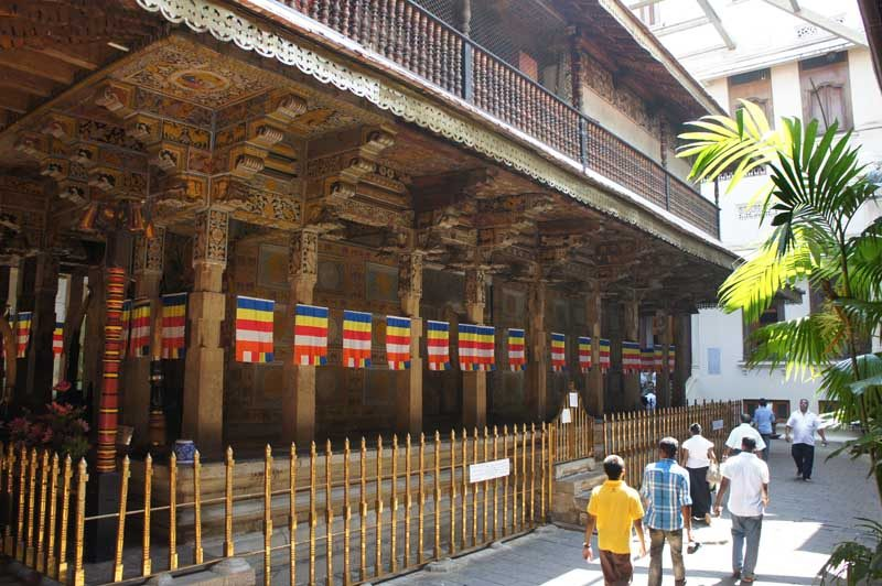 Temple in Kandy, Sri Lanka