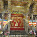Sri Lanka temple with flags