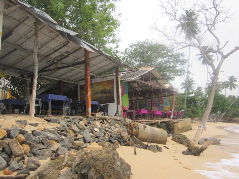 Restaurant on the sandy beach