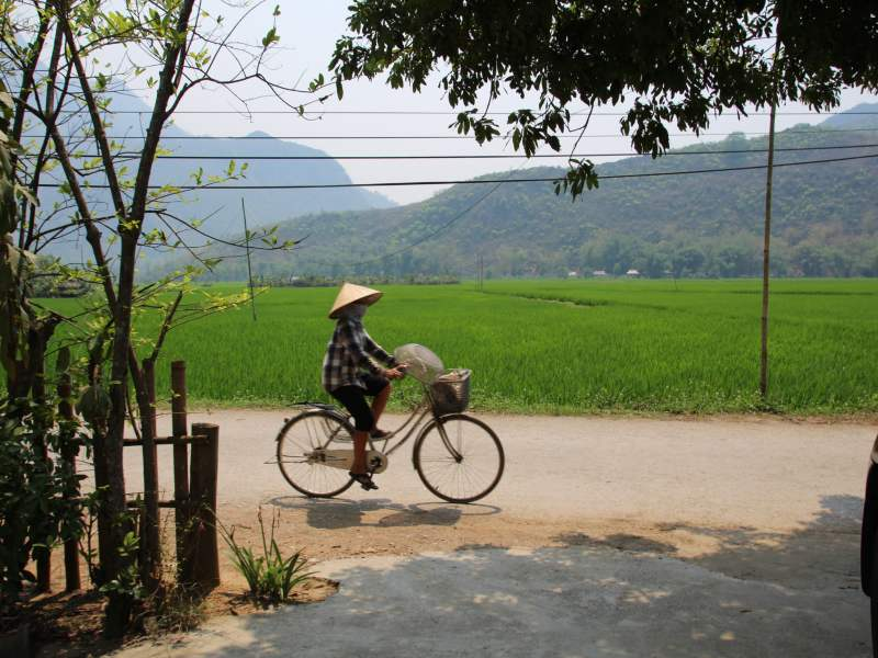 Local woman cycling