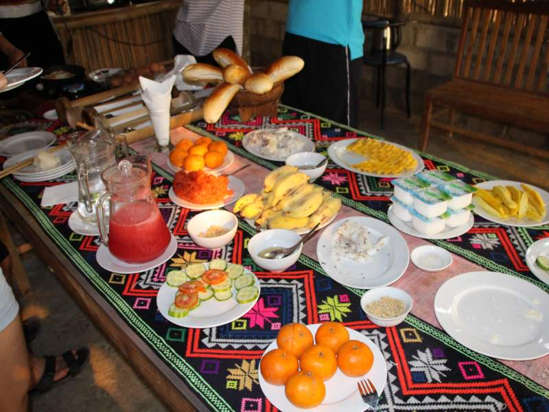 Table full of different foods