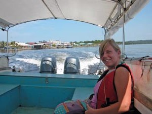 Taking the boat over to Manukan Island