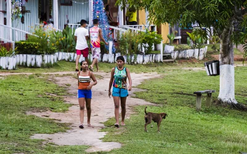 Locals in a community in the Amazon