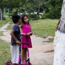 Local children in the Amazon rainforest