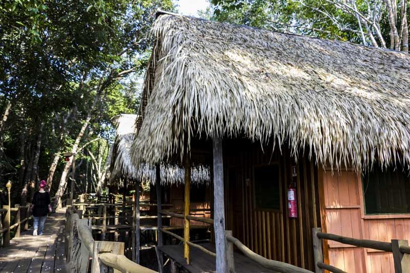 Amazon lodge in Brazil