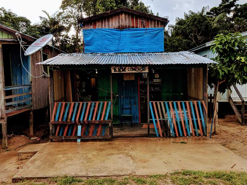 Local shop in the amazon