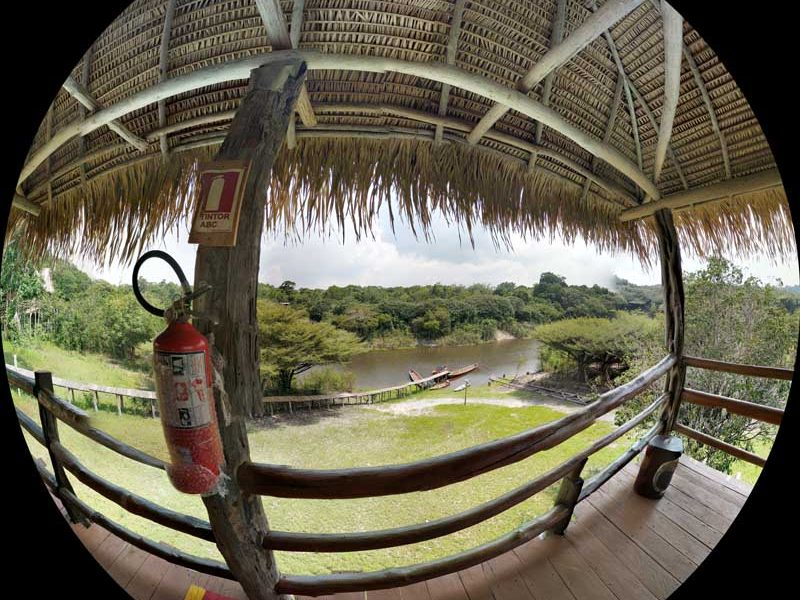 Panorama in the Amazon rainforest lodge