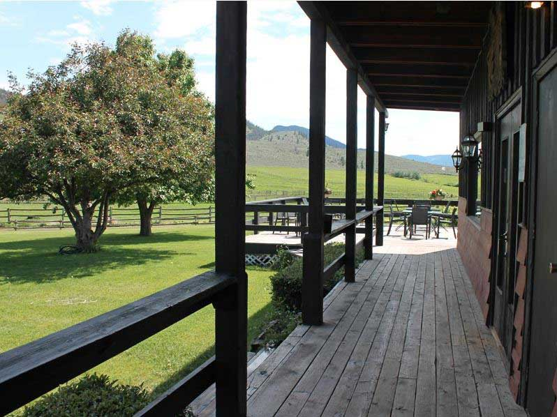 Ranch veranda and grass