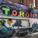 Toronto graffiti wall