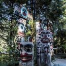 Vancouver suspension bridge totem poles