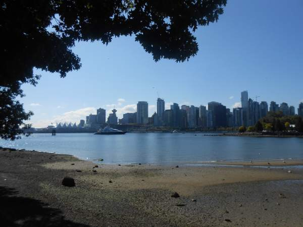 View of Vancouver from Stanley Park