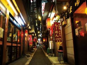 A street in the Shinjuku district of Tokyo