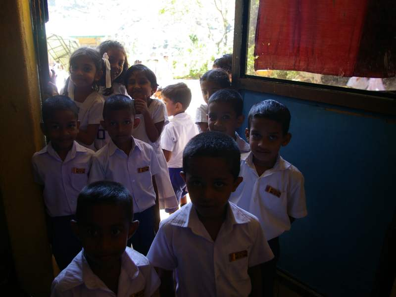 Local Sri Lankan school kids smiling