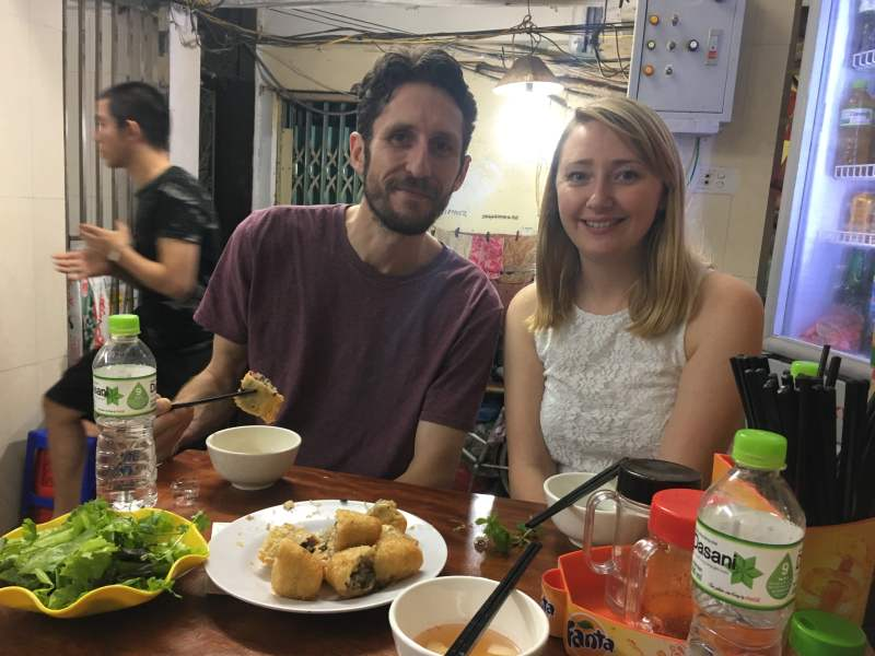 Couple on food tour