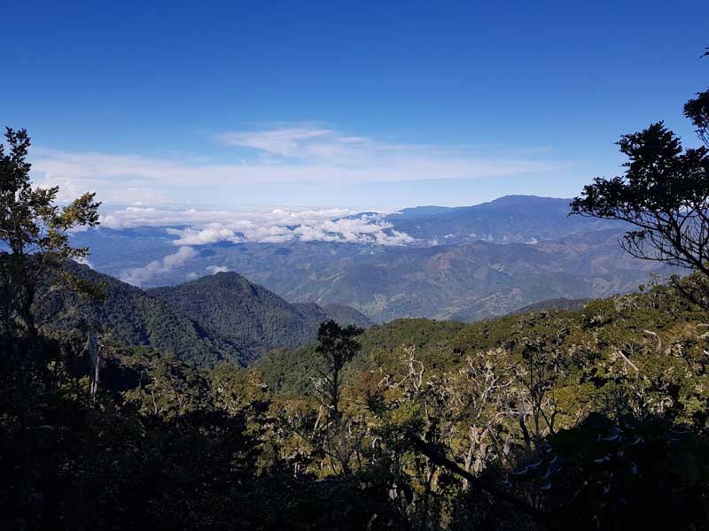 A landscape on the Cerro Chirripo trek