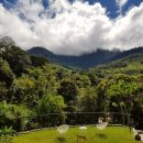 The view at our In Style accommodation in San Gerardo de Rivas