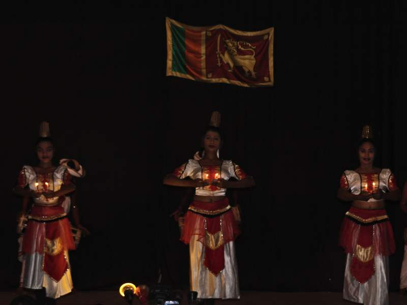 Local dancers at show