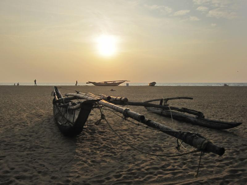 Negombo beach at sunset