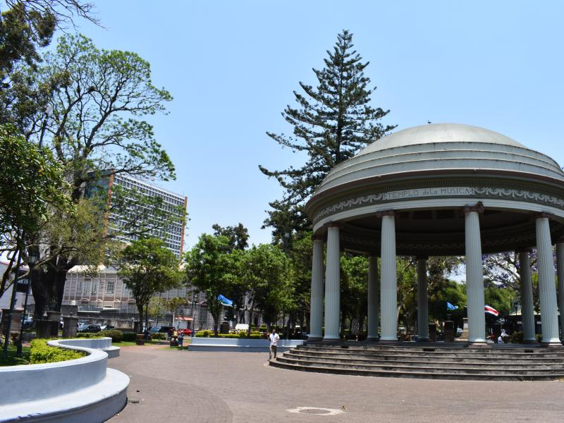 Dome in the middle of park
