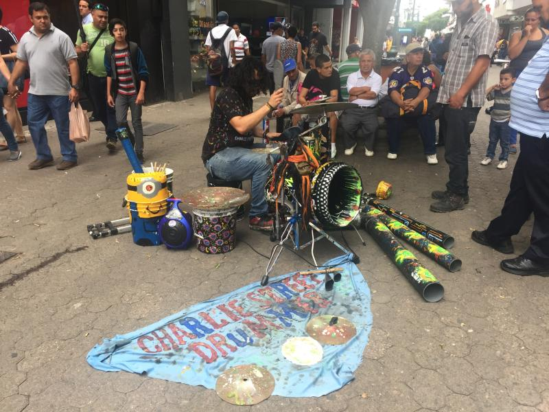 Musical band playing in the street