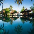 Pool of the standard accommodation on Gili Islands, Indonesia