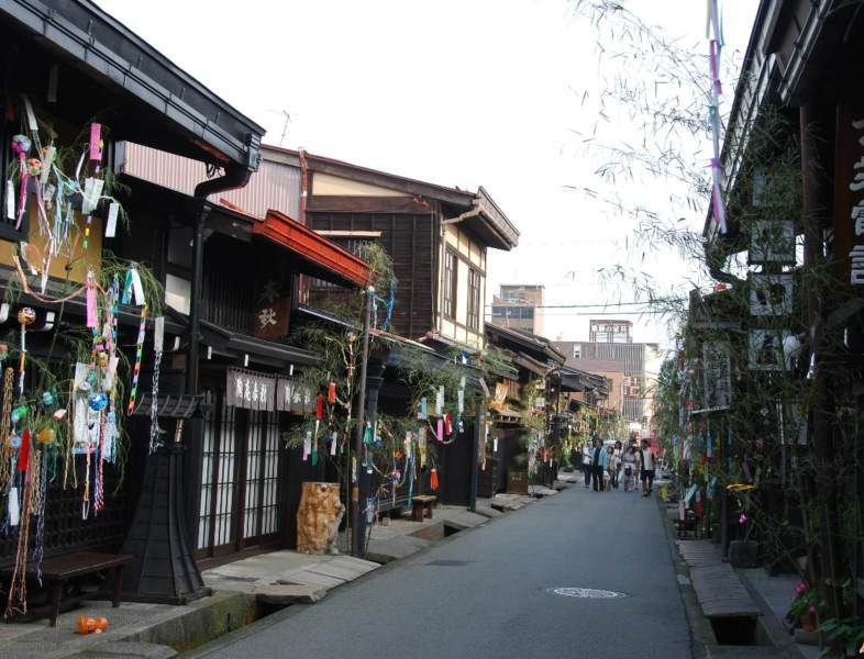 Takayama alley with houses