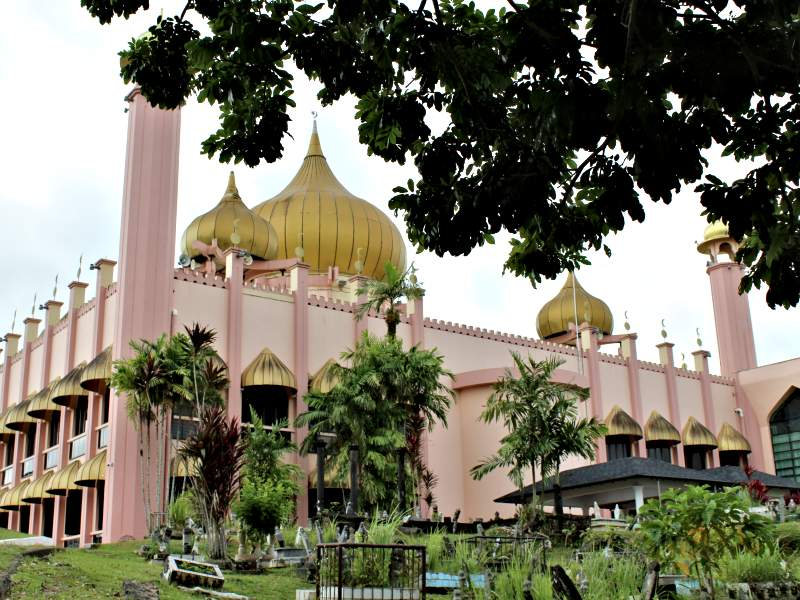 Pink mosque in Kuching