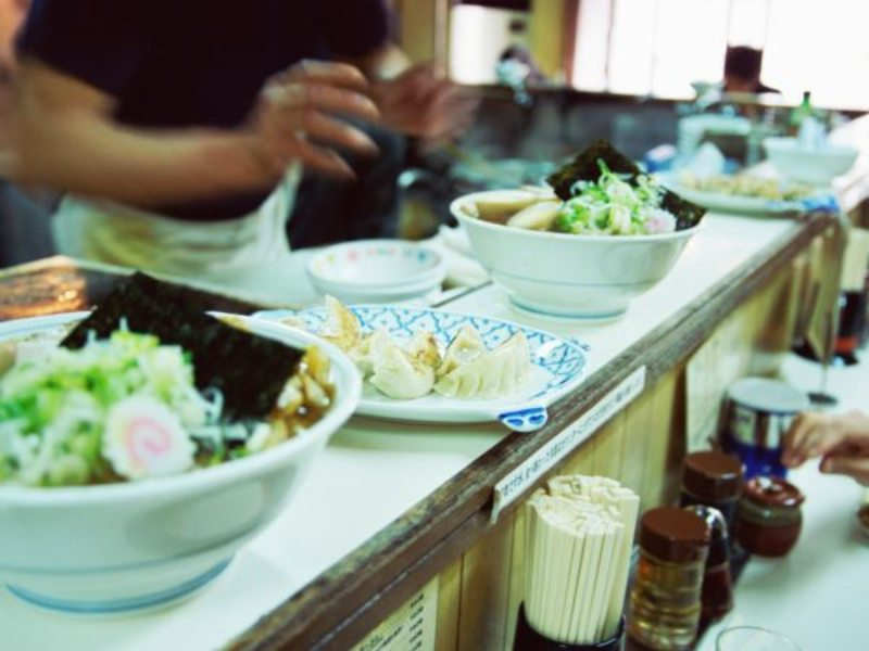 food making and being served
