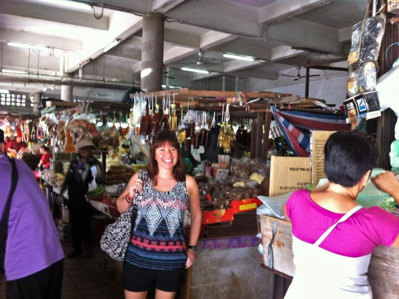 Customer at the market in Kota Kinabalu, Borneo
