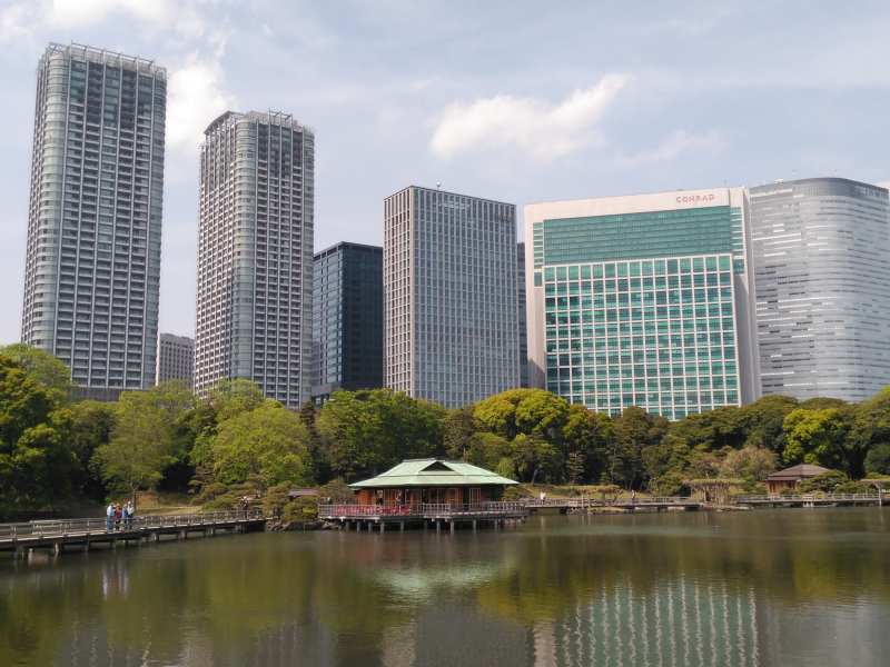 River with large buildings overlooking