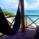 Hammock on balcony looking out to sea