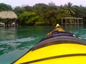 kayak on bacalar lagoon