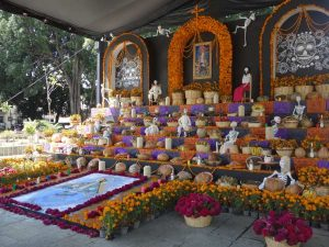 decorated alter for day of the dead