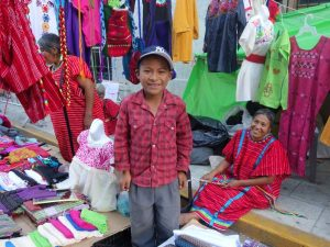 local boy at market