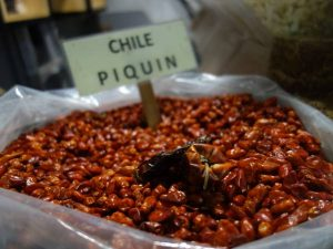 bag of dried chillis