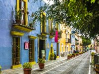 Colourful buildings in Mexico