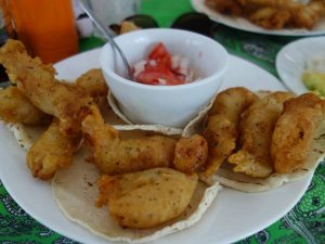 fish tacos on plate