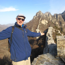 Man at Great Wall of China
