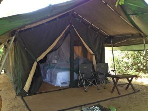 Tented Camp with Covered Bed