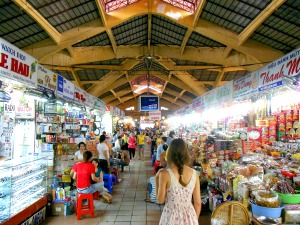 ben thanh covered market in ho chi minh city