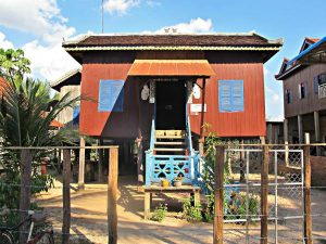 Homestay house with stilted legs