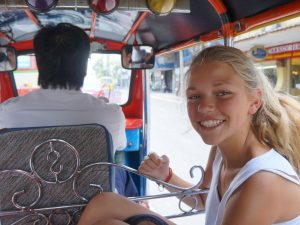 Girl in Tuk TUk