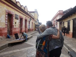 San Cristobal Cobbled Street Couple