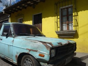 An old car in Antigua